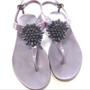 Coach Hilda Lilac jelly sandal thong style flat